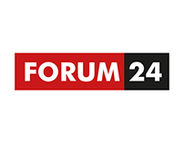 Logo for new Czech internet news server FORUM 24