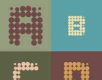 Typography with dots