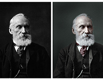 Colorisation of a photograph of Lord Kelvin