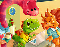 Dinosaurs At Work