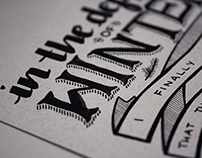 Customized Hand-Lettering