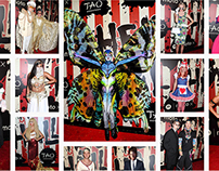 Heidi Klum's Halloween Media Wall