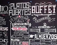 Lettering y rotulación con tiza Restaurante Bistro