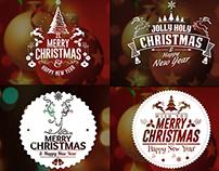 Christmas Badges Label