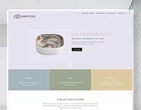 Web design. Italian Furniture Company. Wordpress.