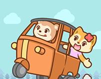Puffy & Cherry Memorable Trip Sticker