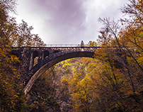 Old Railway Bridge in Autumn