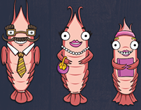 Character Illustration - Prawn Family