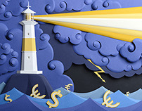 lighthouse and financial storm