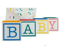 3-D  Baby Shower Invitation