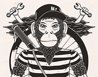 Monkey Cycles T-Shirt Designs