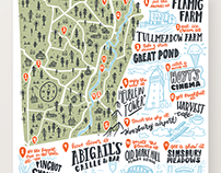 Illustrated Map Of Simsbury, CT