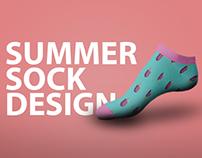 Summer Sock Design Concept For Soxey