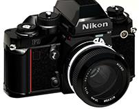 Nikon F3 drawn in AutoCad & 3D Studio Max