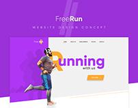 FreeRun Landing page design concept