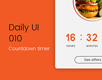 Daily ui #010 | countdown timer