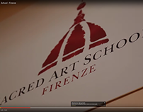 "Logo for "" Sacred Art School "", Firenze, Italy"