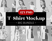 75% OFF Sale Woman T-shirt Mockup Bundle