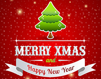 Free Merry Christmas & Happy New Year Poster Template 2