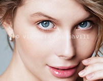 portrait shoot with plus size model Ludmila
