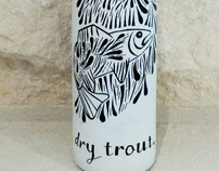 """Dry Trout"" Wine Bottle"
