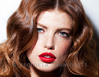 beauty shoot with Kate Potter