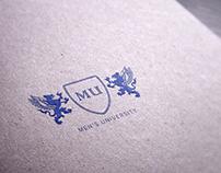 Men's University Logo Логотип Мужского Университета
