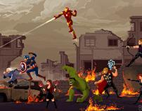 """Avengers Age of Ultron"" pixelart"