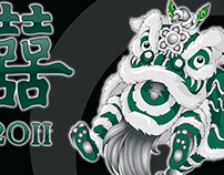 Chinese Lion Dance Illustrations
