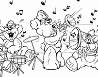 Bear Band Children's Book Illustration