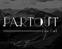Partout - free font