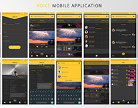 Voices Mobile Application Design
