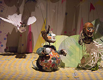 Puppets from Love of the three oranges by Gozzi