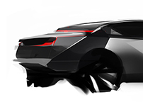 Hybrid-powered shooting brake