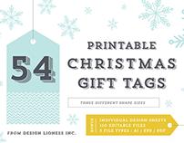 Christmas Gift Tags // 54 Designs