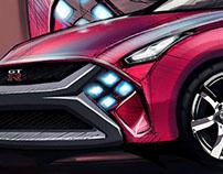 Sketch Nissan GT- X