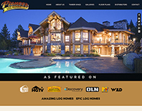 Pioneer Log Homes of BC site and Infographic