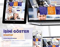 İşini Göster Startup Clean Web Site Design