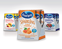 Ocean Spray Sparkling Juice | Packaging Design