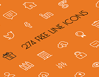 274 Vector Line Icons for free