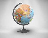 Globe Mock-Up PSD Project