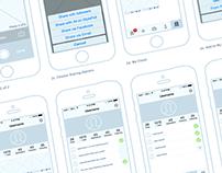Wireframes for Social Mobile App