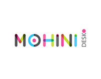 Mohinidesk logo and Landing page