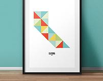 Art Prints - Geometric United States