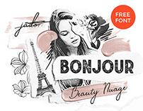 Free Font Bonjour