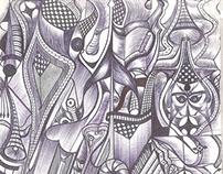 My  Illustration Project / Ballpoint Pen