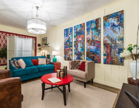 """This polyptych was made for TV program """"Pro Decor"""""""