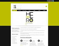 Diseño Grafico y Web para la empresa de vinos Herrero
