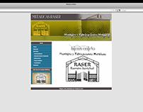 Diseño Grafico y Web MetalicasRaser.es (2008)