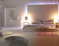 Interior scene with 3Ds Max.